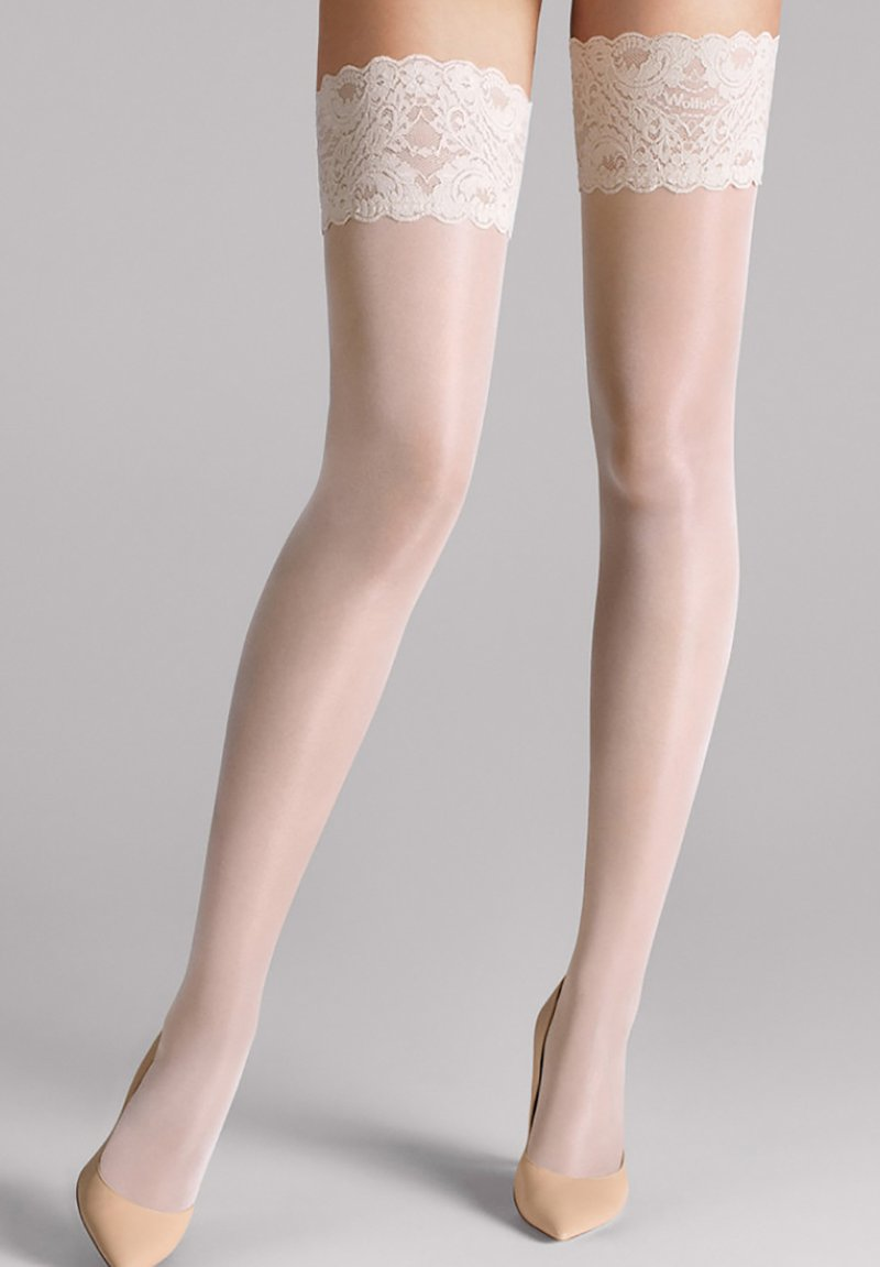 Wolford - TOUCH - Over-the-knee socks - white