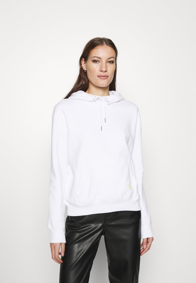 BACK MONOGRAM  - Bluza z kapturem - bright white