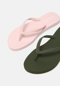 Even&Odd - 2 PACK - Pool shoes - khaki/pink - 5
