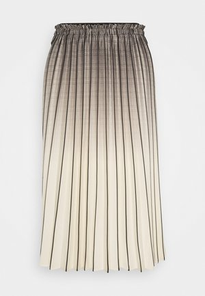 OMBRE PLAID PLEATED SKIRT - Áčková sukně - nude/black