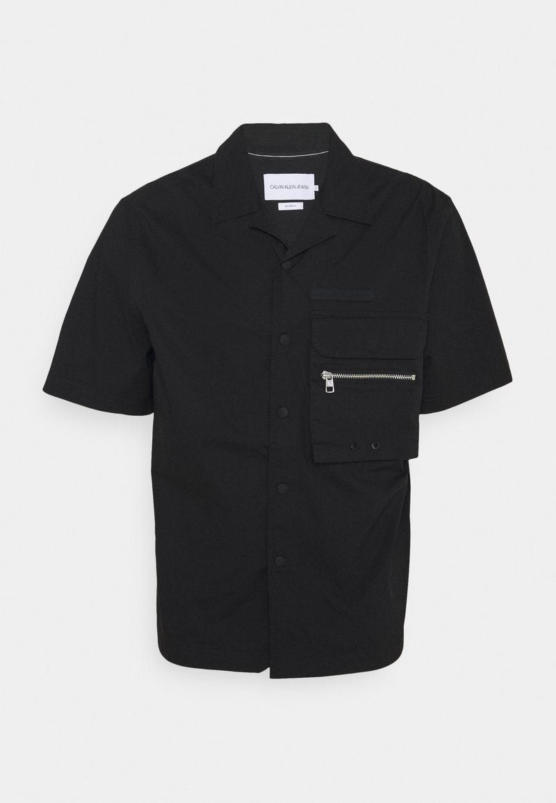 Calvin Klein Jeans - LIGHTWEIGHT UTILITY SHIRT - Vapaa-ajan kauluspaita - black