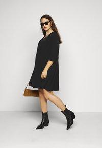 Vero Moda Curve - VMGABRINA SHORT SHIRT DRESS - Day dress - black - 1