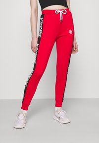 SIKSILK - CHASER TRACK PANT - Tracksuit bottoms - red - 0