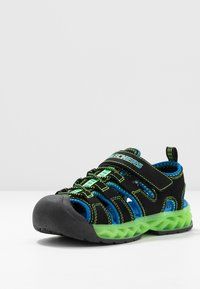 Skechers - FLEX-FLOW - Chodecké sandály - black/blue/lime - 2