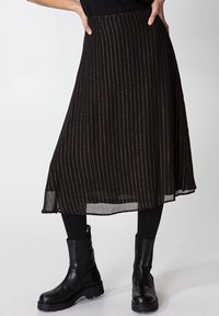 Indiska - ROS LUREX - A-line skirt - black - 4