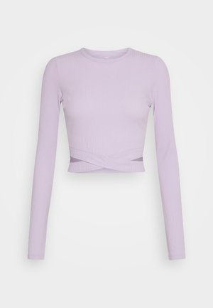 ULTRA CROP CUT OUT - T-shirt à manches longues - orchid petal