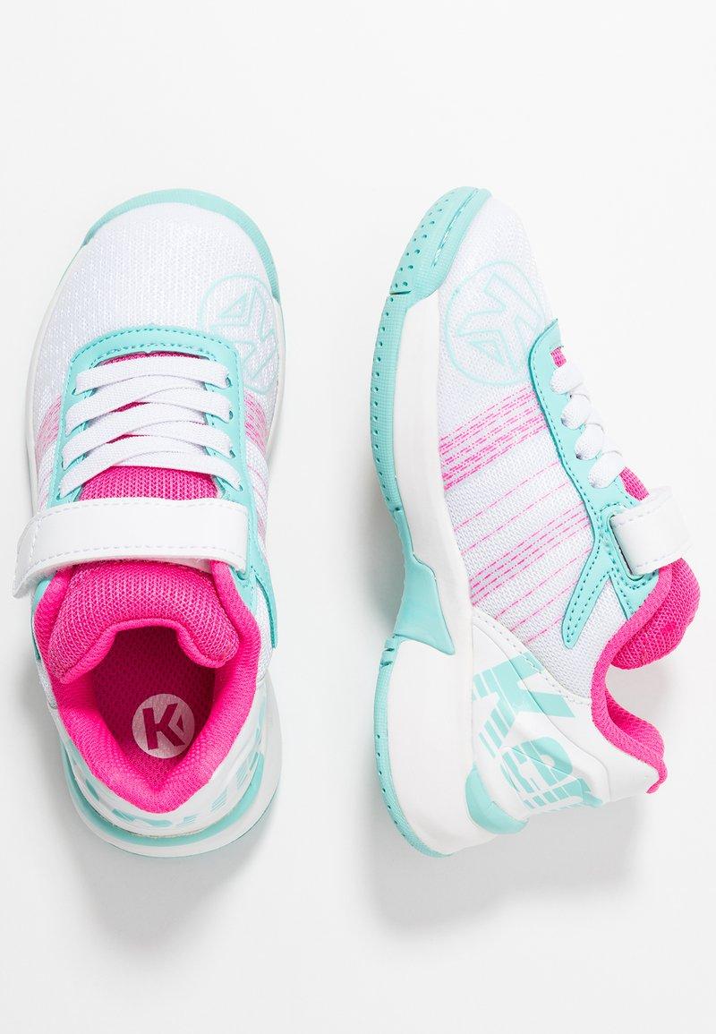 Kempa - ATTACK CONTENDER JUNIOR CAUTION - Handball shoes - white/turquoise