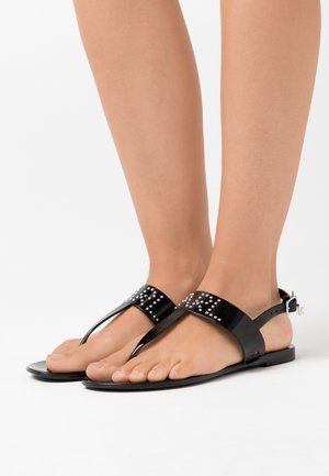 JELLY II STUD TOE POST - T-bar sandals - black