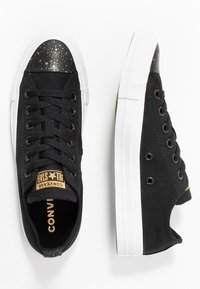 Converse - CHUCK TAYLOR ALL STAR - Sneakersy niskie - black/white/gold - 3