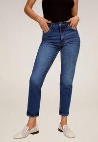 Mango - Slim fit jeans - dunkelblau - 0
