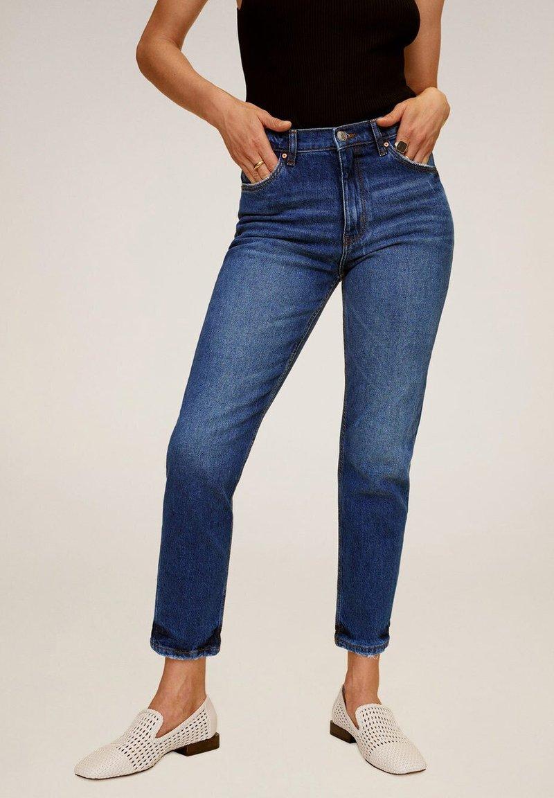 Mango - Slim fit jeans - dunkelblau
