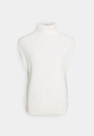 HIGH NECK VEST - Jumper - white