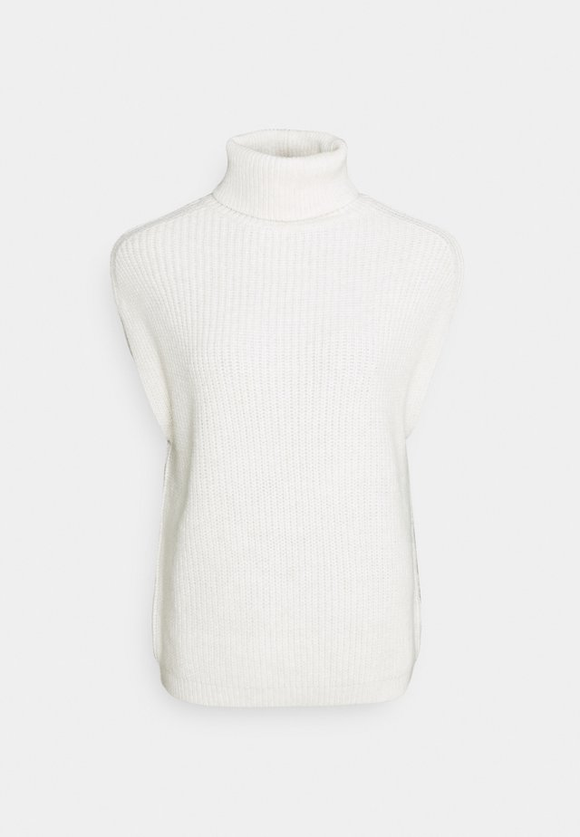 HIGH NECK VEST - Neule - white