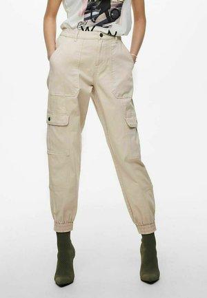 ONLGIGI LIFE LOOSE - Cargo trousers - pumice stone