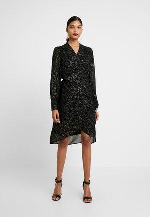 SLFANYA WRAP DRESS - Day dress - black/gold