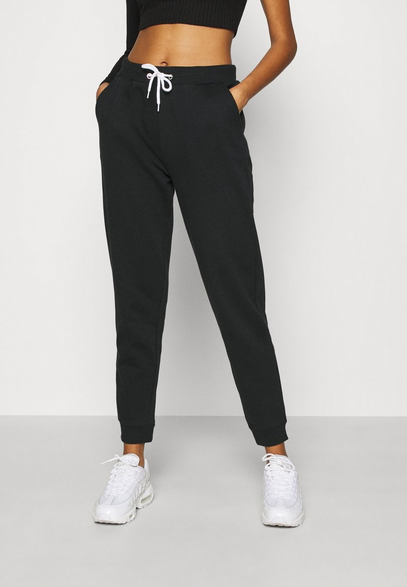 Even&Odd - Regular Fit Jogger with contrast cord - Tracksuit bottoms - black