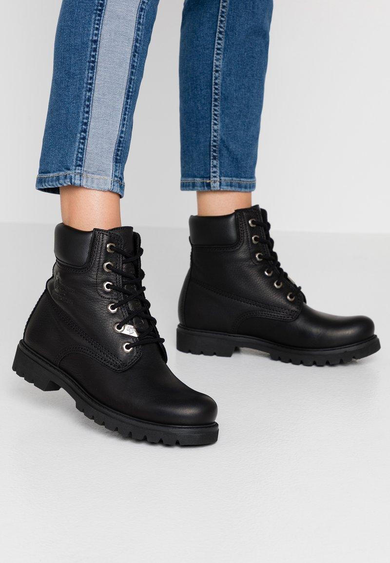 Panama Jack - Lace-up ankle boots - black
