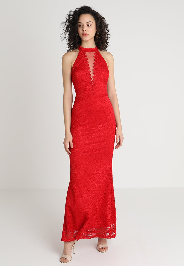 WAL G. - HIGH NECK MAXI - Occasion wear - red