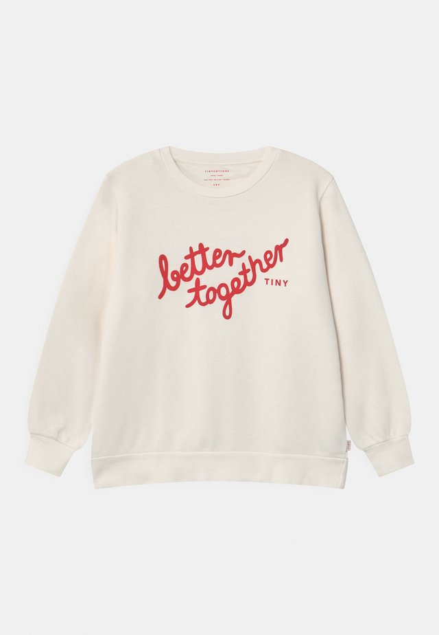 BETTER TOGETHER UNISEX - Felpa - white