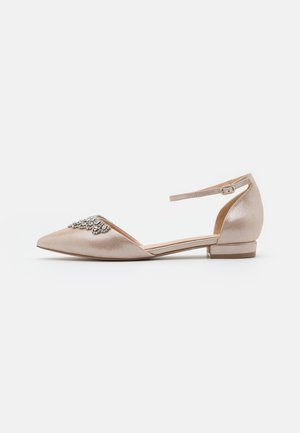 LOULOU - Ankle strap ballet pumps - soft metallic