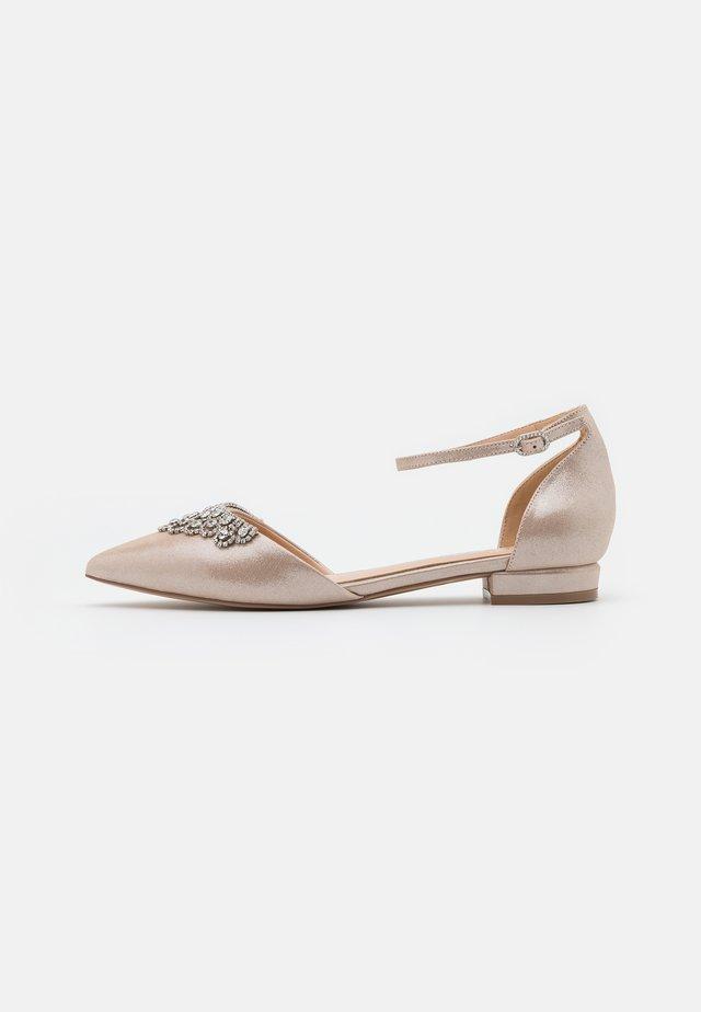 LOULOU - Ankle strap ballet pumps - soft metallic