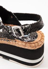 Replay - MYERS - Platform sandals - grey - 2