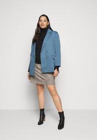 Missguided Plus - GRANDAD SIDE SPLIT  - Short coat - blue - 1