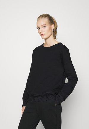 RUFFLED DETAILS - Sweatshirt - black