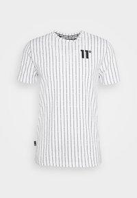 11 DEGREES - VERTICAL STRIPE  - Print T-shirt - white/black - 0