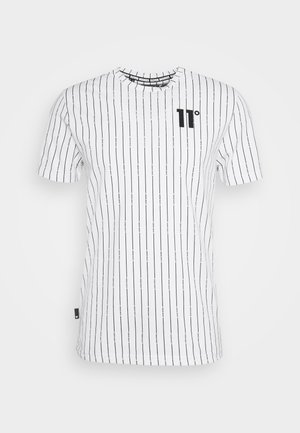 VERTICAL STRIPE  - Print T-shirt - white/black