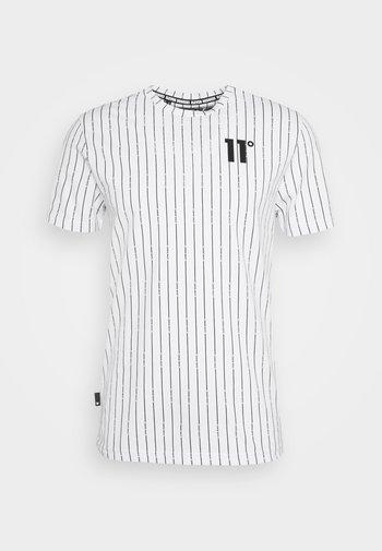 VERTICAL STRIPE  - Print T-shirt - white/black