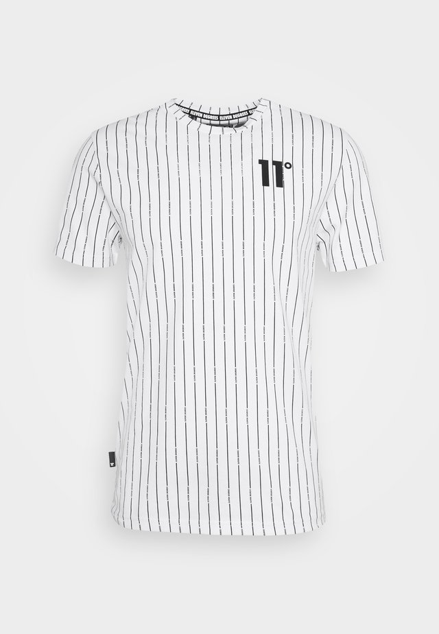 VERTICAL STRIPE  - T-shirt con stampa - white/black