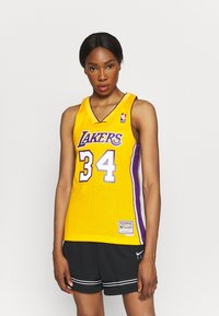 Mitchell & Ness - NBA LOS ANGELES LAKERS WOMENS SWINGMAN SHAQUILLE ONEAL  - Club wear - yellow - 0