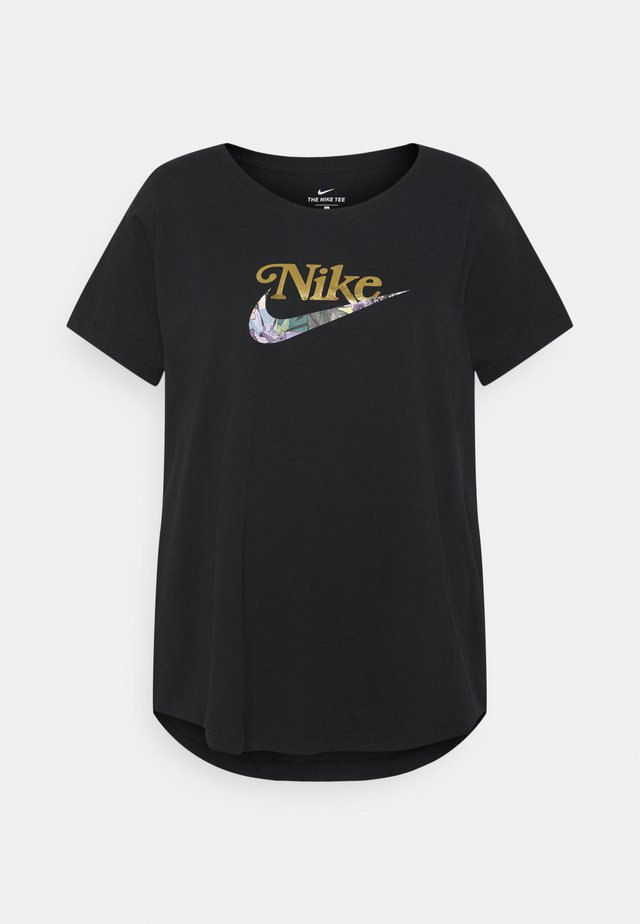 TEE FEMME PLUS - Print T-shirt - black