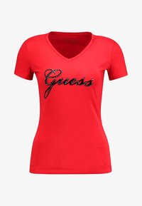 Guess - SLIM FIT - T-shirt con stampa - tomato juice - 3