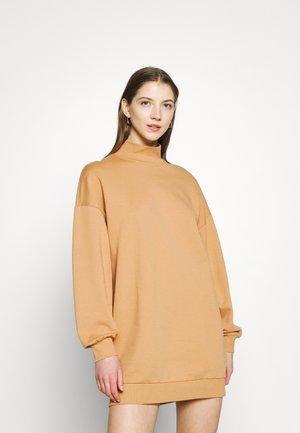 ONLHOLLIE HIGHNECK DRESS - Day dress - camel