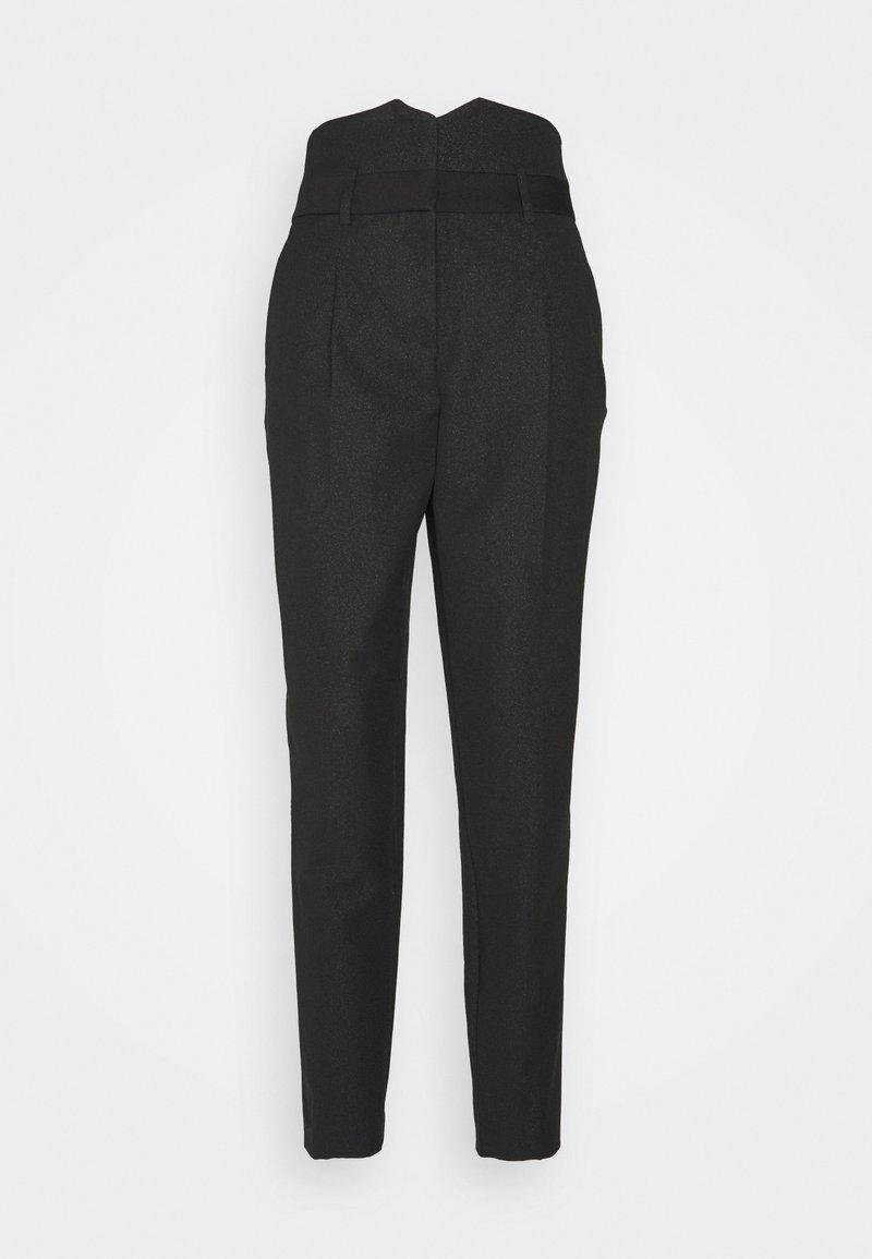 NAF NAF - ESHINY - Trousers - noir