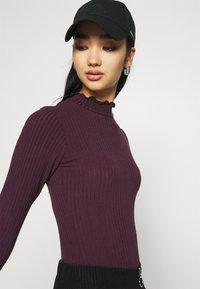 New Look - TURTLE NECK BODY - Long sleeved top - dark burgundy - 3
