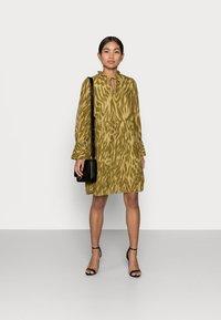 Object Petite - OBJZANIA  DRESS - Day dress - khaki - 1