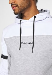 Brave Soul - FULHAM - Sweat à capuche - optic white /grey marl / jet black - 5