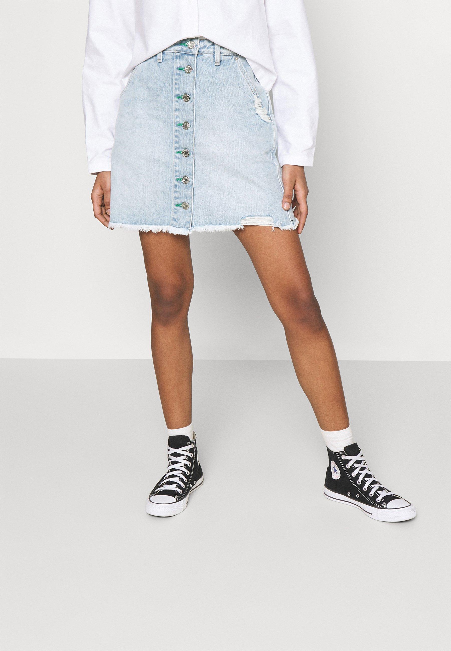 Women SHORT SKIRT - Denim skirt