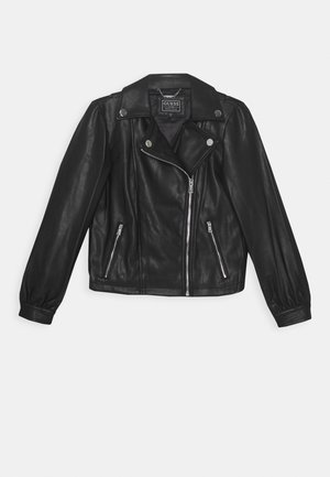 JUNIOR JACKET - Faux leather jacket - jet black