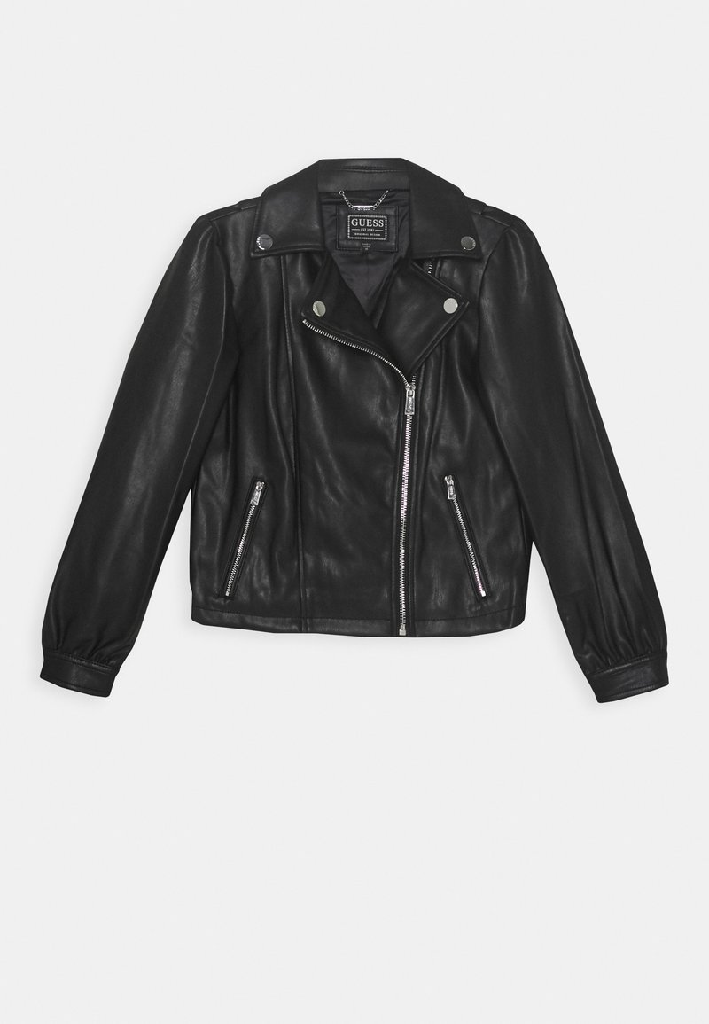 Guess - JUNIOR JACKET - Giacca in similpelle - jet black