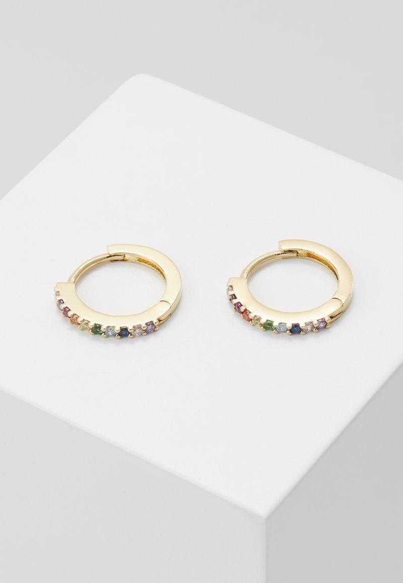 Orelia - FINE RAINBOW HUGGIE HOOPS - Earrings - multi