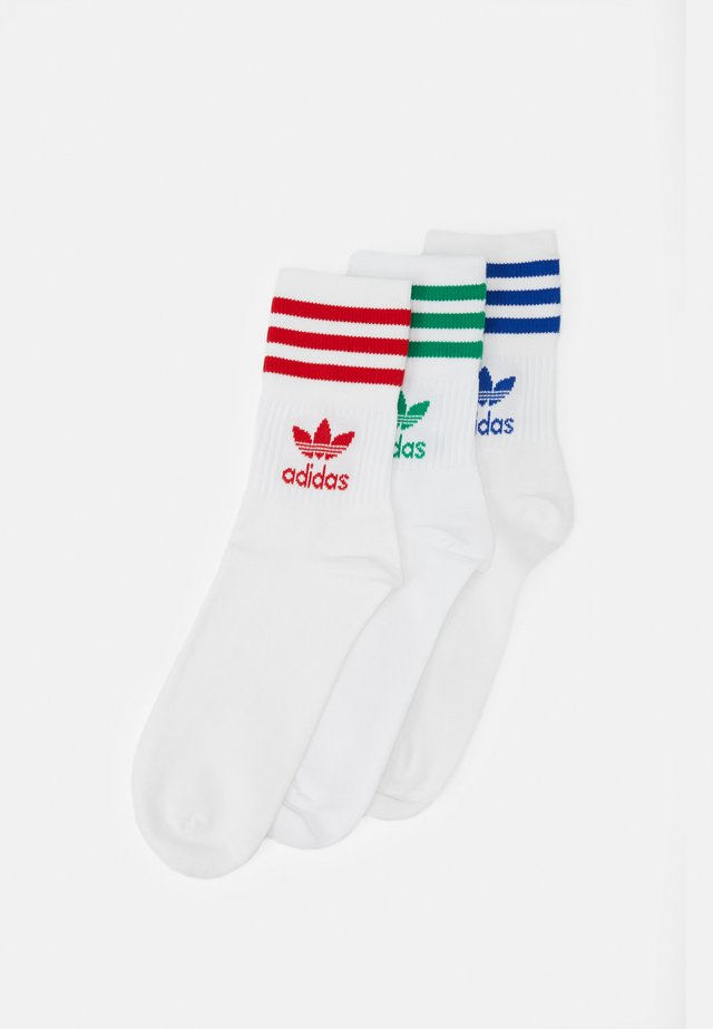 SOLID CREW UNISEX 3 PACK - Calze - white/red