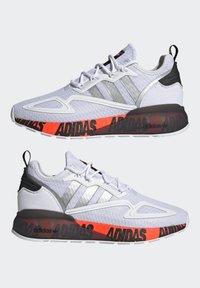 adidas Originals - ZX 2K BOOST UNISEX - Trainers - footwear white/silver metallic/core black - 7