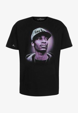 T-shirt print - black/chrome print purple