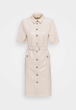 NMDUST SHIRT DRESS - Etuikleid - taupe gray