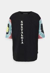 YOURTURN - TIE DYE SLEEVES UNISEX - Print T-shirt - black - 0
