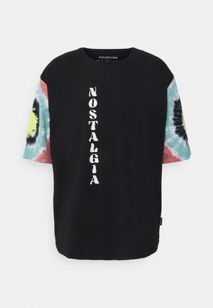 TIE DYE SLEEVES UNISEX - Print T-shirt - black